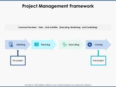 Project Management Framework Ppt PowerPoint Presentation Pictures Deck