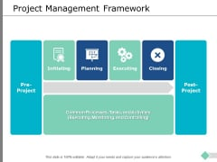 Project Management Framework Ppt PowerPoint Presentation Professional Themes