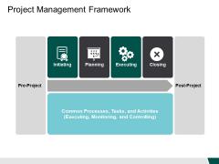 Project Management Framework Tasks Ppt PowerPoint Presentation Gallery Design Ideas