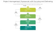 Project Management Framework With Focusing And Delivering Ppt Diagrams PDF