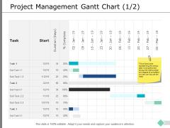 Project Management Gantt Chart Business Ppt PowerPoint Presentation Inspiration Layout Ideas