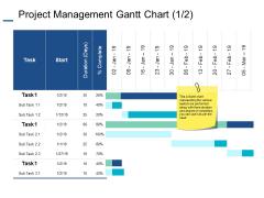 Project Management Gantt Chart Finance Ppt PowerPoint Presentation File Layout Ideas