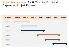 Project Management Gantt Chart For Structural Engineering Project Proposal Ppt Outline Styles PDF