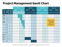 Project Management Gantt Chart Ppt PowerPoint Presentation Layouts Format Ideas