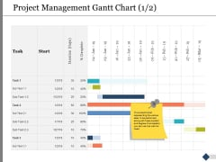 Project Management Gantt Chart Ppt PowerPoint Presentation Summary Images