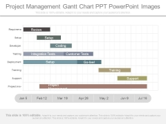 Project Management Gantt Chart Ppt Powerpoint Images
