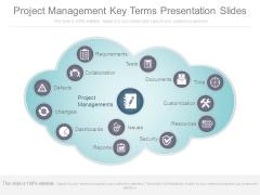 Project Management Key Terms Presentation Slides