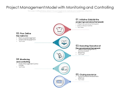 Project Management Model With Monitoring And Controlling Ppt PowerPoint Presentation Gallery Inspiration PDF