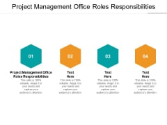 Project Management Office Roles Responsibilities Ppt PowerPoint Presentation Slides Summary Cpb