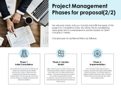 Project Management Phases For Proposal Client Ppt PowerPoint Presentation Infographic Template Brochure