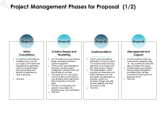 Project Management Phases For Proposal Initial Ppt PowerPoint Presentation Outline Smartart