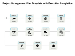 Project Management Plan Template With Execution Completion Ppt PowerPoint Presentation Model Graphics Example