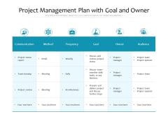 Project Management Plan With Goal And Owner Ppt PowerPoint Presentation Gallery Graphic Tips PDF