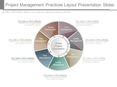 Project Management Practices Layout Presentation Slides