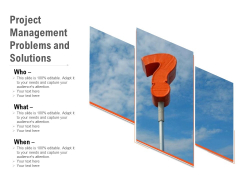 Project Management Problems And Solutions Ppt PowerPoint Presentation Icon Background PDF