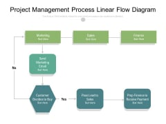 Project Management Process Linear Flow Diagram Ppt PowerPoint Presentation Ideas Themes PDF