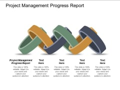 Project Management Progress Report Ppt PowerPoint Presentation Ideas Deck Cpb