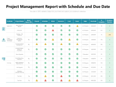 Project Management Report With Schedule And Due Date Ppt PowerPoint Presentation File Skills PDF