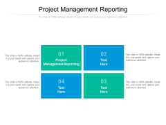Project Management Reporting Ppt PowerPoint Presentation Outline Microsoft Cpb