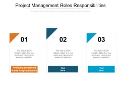 Project Management Roles Responsibilities Ppt PowerPoint Presentation Layouts Icon Cpb