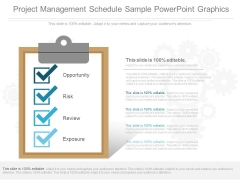Project Management Schedule Sample Powerpoint Graphics