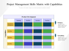 Project Management Skills Matrix With Capabilities Ppt PowerPoint Presentation Summary Background Designs PDF