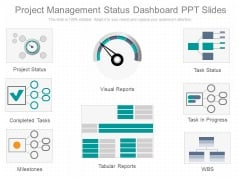 Project Management Status Dashboard Ppt Slides