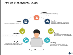 Project Management Steps Ppt PowerPoint Presentation Model Example File