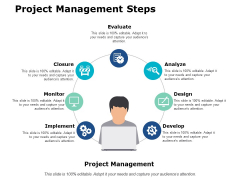 Project Management Steps Ppt PowerPoint Presentation Summary Show
