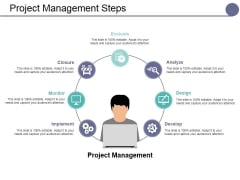 Project Management Steps Ppt PowerPoint Presentation Visual Aids Slides