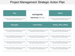 Project Management Strategic Action Plan Ppt Powerpoint Presentation Designs