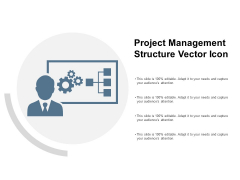 Project Management Structure Vector Icon Ppt PowerPoint Presentation Outline Tips
