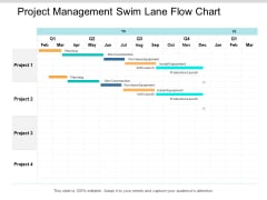 Project Management Swim Lane Flow Chart Ppt PowerPoint Presentation Pictures Brochure