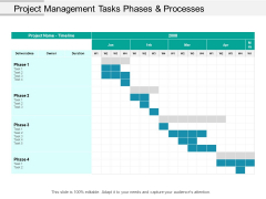 Project Management Tasks Phases And Processes Ppt PowerPoint Presentation Outline Graphics Design