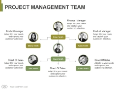 Project Management Team Template 1 Ppt PowerPoint Presentation Icon Master Slide