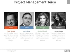 Project Management Team Template 1 Ppt PowerPoint Presentation Slides Example