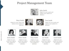 Project Management Team Template Ppt PowerPoint Presentation Icon