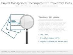 Project Management Techniques Ppt Powerpoint Ideas