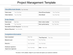 Project Management Template Ppt PowerPoint Presentation Background Image