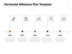 Project Management Timeline Horizontal Milestone Plan Template Ppt Ideas Templates PDF