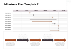 Project Management Timeline Milestone Plan Template 2015 To 2020 Ppt Outline Guidelines PDF