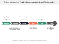 Project Management Timeline Parameter Analysis And Site Inspection Ppt PowerPoint Presentation Professional Designs