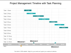 Project Management Timeline With Task Planning Ppt PowerPoint Presentation Portfolio Visual Aids