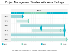 Project Management Timeline With Work Package Ppt PowerPoint Presentation Ideas Graphics