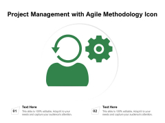 Project Management With Agile Methodology Icon Ppt PowerPoint Presentation Visual Aids Styles PDF