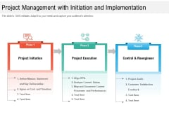 Project Management With Initiation And Implementation Ppt PowerPoint Presentation File Background Designs PDF