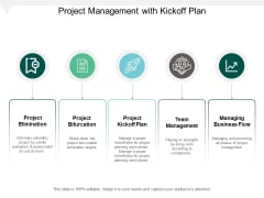 Project Management With Kickoff Plan Ppt PowerPoint Presentation Model Mockup