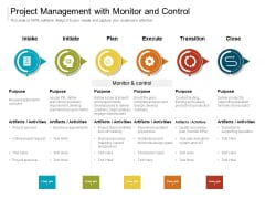 Project Management With Monitor And Control Ppt PowerPoint Presentation File Example Introduction PDF