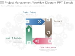 Project Management Workflow Diagram Ppt Sample