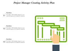 Project Manager Creating Activity Plan Ppt PowerPoint Presentation Outline Influencers PDF